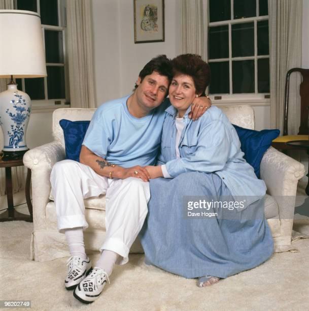 English rock singer Ozzy Osbourne and his wife Sharon, USA, 1987.