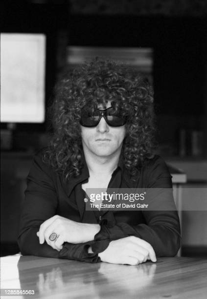 English rock singer songwriter, musician, and band leader Ian Hunter poses for a portrait on November, 1975 in New York City, New York. Ian Hunter's...