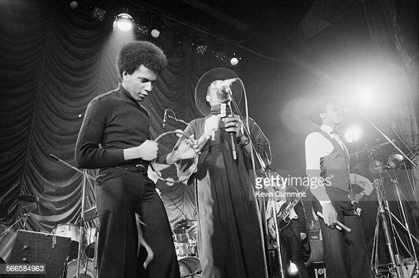 English roots reggae band Steel Pulse performing at the Elizabethan Hall Belle Vue Manchester 14th November 1977 Left to right singer and...