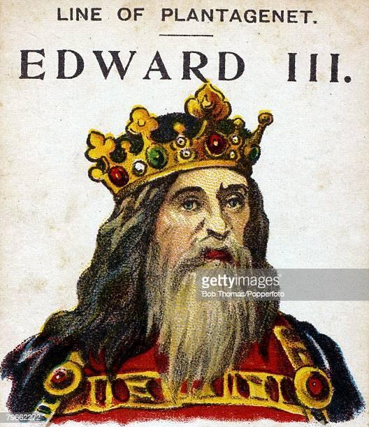 English Royalty Illustration King Edward III King of England