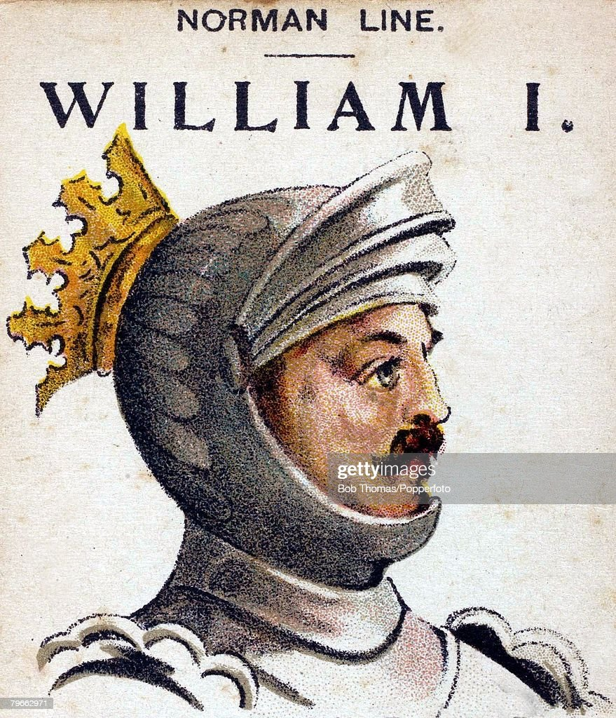English Royalty, Illustration, King William I, King of England, (1066-1087), He was known as William the Conqueror taking the throne after winning the Battle of Hastings : News Photo