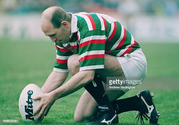 English rugby player John Liley playing for Leicester Tigers in a match against Bristol 29th April 1995 Leicester won the match 173
