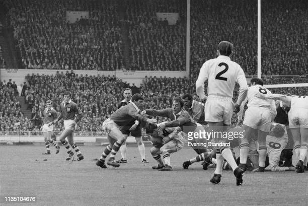 English rugby teams in action Castleford Tigers vs Salford Red Devils during the Challenge Cup Final at Wembley Stadium London UK 17th May 1969