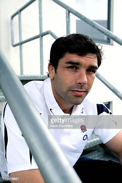 English rugby union player Pat Sanderson, circa 2005.
