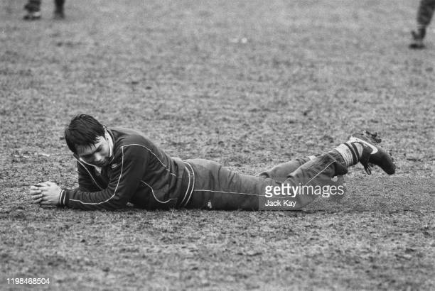 English rugby union player Rory Underwood training with the England national rugby union team UK 16th March 1985