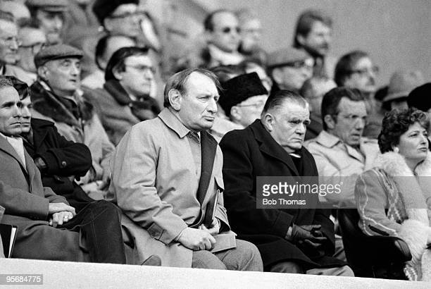 English Rugby Union President Ron Jacobs with his French counterpart Albert Ferrasse during the France v England Rugby Union International played at...