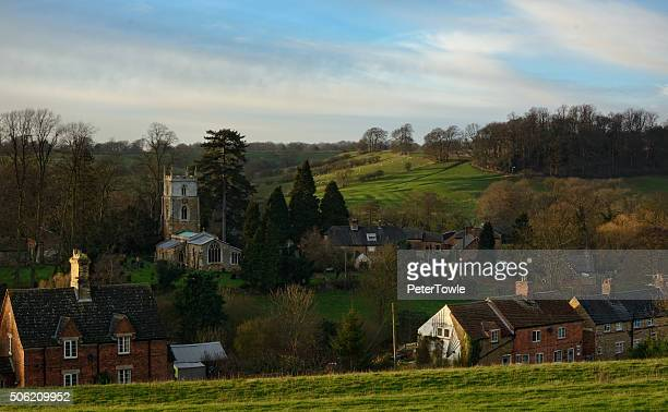 english rural scene in late winter. - leicestershire stock pictures, royalty-free photos & images
