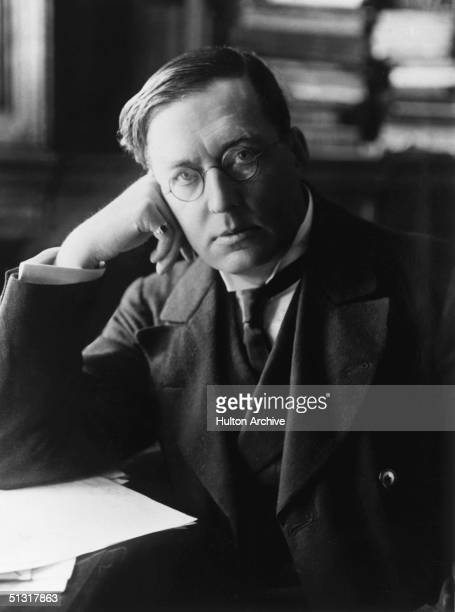 English scholar and author M.R. James , circa 1900. James wrote on linguistic and theological subjects, but is best known for collections of ghost...
