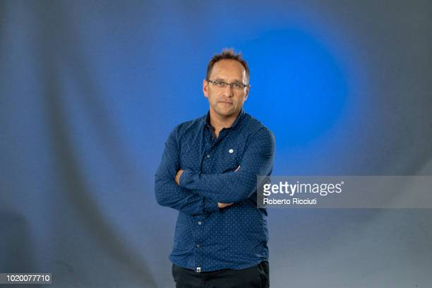 English science writer Michael Brooks attends a photocall during the annual Edinburgh International Book Festival at Charlotte Square Gardens on...