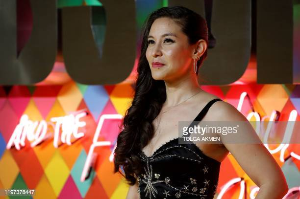 English screenwriter Christina Hodson poses on the red carpet upon arrival for the World Premiere of the film 'Birds of Prey' in London on January 29...