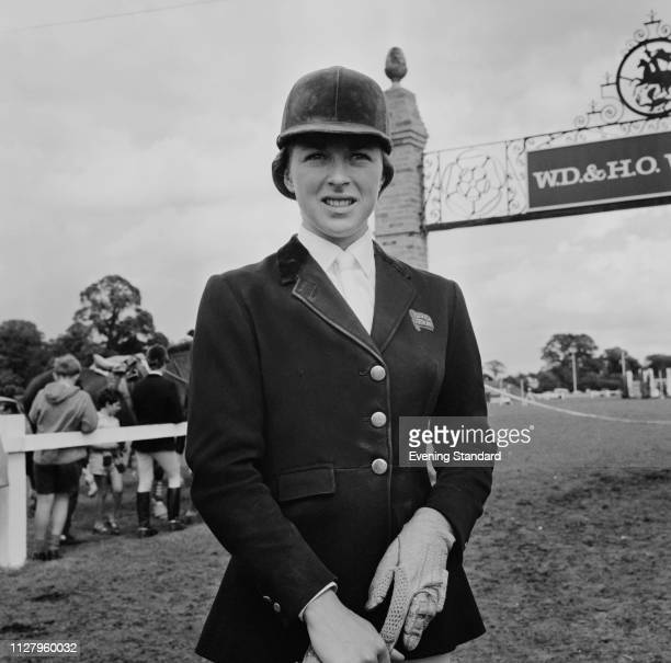 English show jumper Marion Coakes, UK, 5th September 1968.