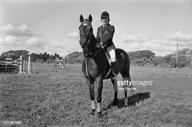 English show-jumper Marion Coakes on her horse Stroller, 29th September 1965.