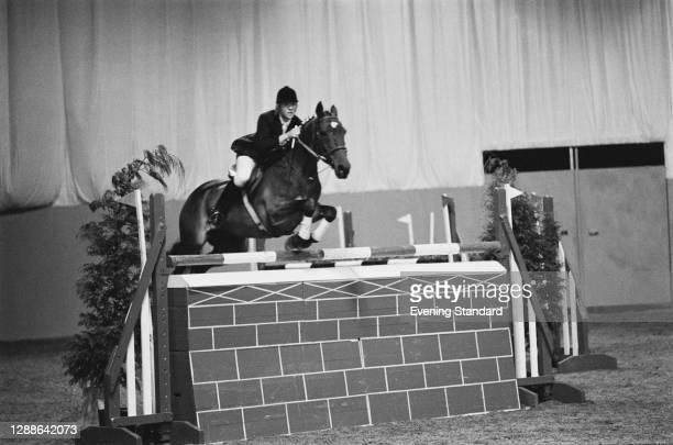 English showjumper Marion Coakes , UK, 1971.
