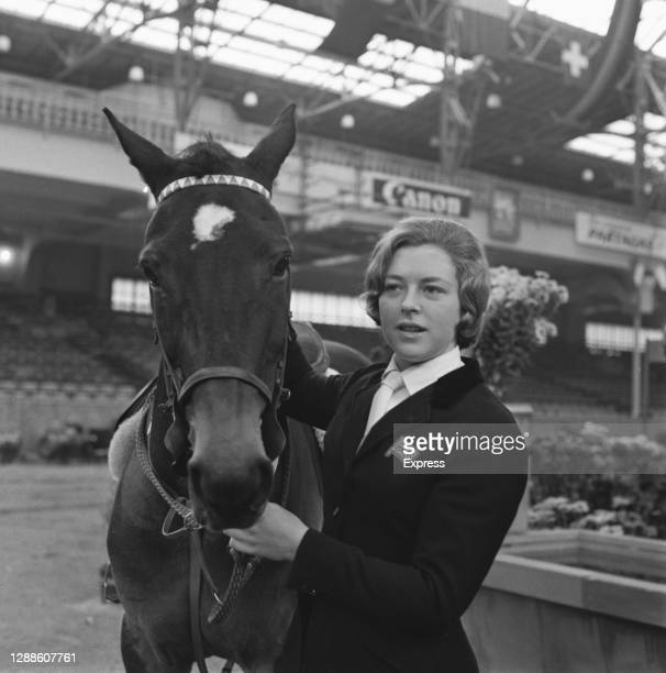 English showjumper Marion Coakes, voted Sportswoman of the Year, with her pony Stroller, UK, 21st November 1965.