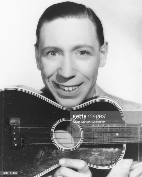 English singer actor and comedian George Formby with his trademark ukulele circa 1938