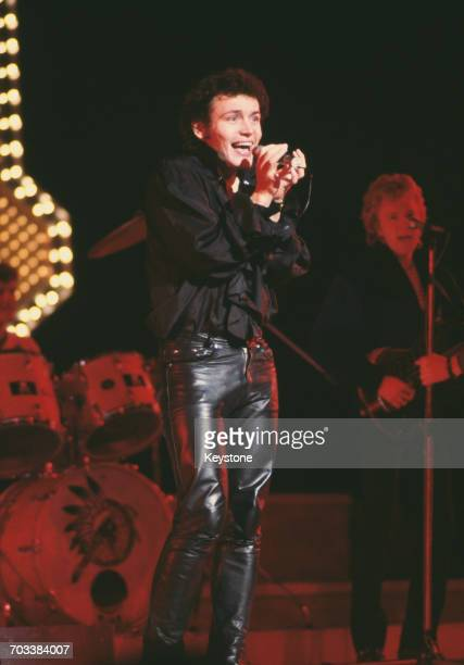 English singer Adam Ant on stage at the Royal Variety Performance at the Theatre Royal Drury Lane London 12th November 1981
