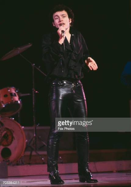 English singer Adam Ant rehearsing for the Royal Variety Performance at the Theatre Royal Drury Lane London 12th November 1981