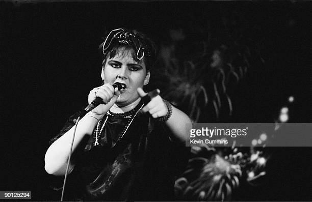 English singer Alison Moyet performing with Yazoo at the Hacienda Manchester 20th September 1982