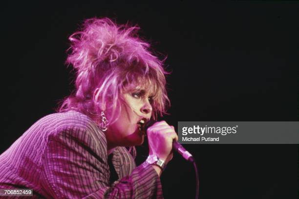 English singer Alison Moyet performs on stage at the Prince's Trust Rock Gala concert at Wembley Arena in London 5th June 1987