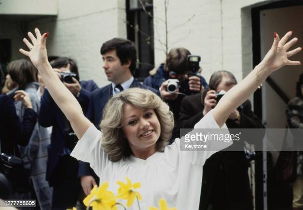 English singer and actress Elaine Paige, who has been chosen to play Eva Peron in the stage musical 'Evita', London, UK, 3rd April 1978.