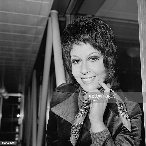 English singer and actress Helen Shapiro leaving London airport for New York to appear on the 'The David Frost Show' 1st February 1970