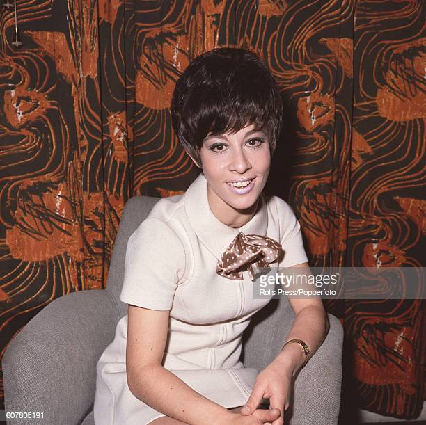 English singer and actress Helen Shapiro pictured wearing a pussy bow dress in September 1968