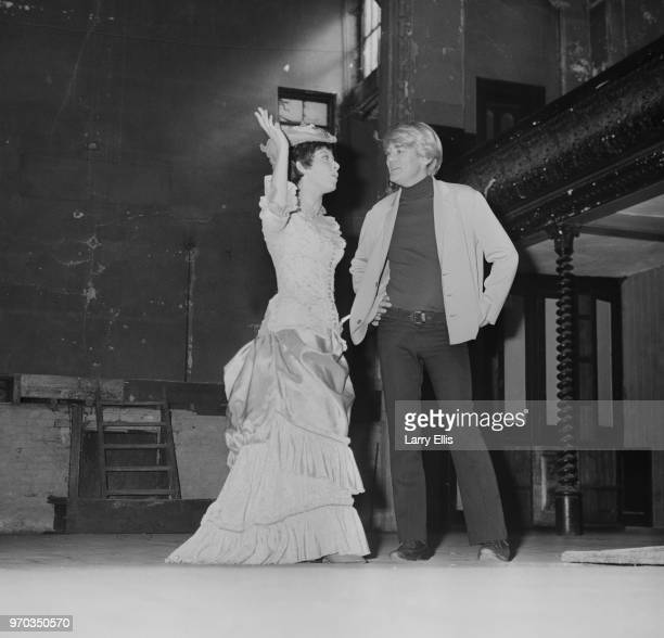 English singer and actress Helen Shapiro with English actor Tony Booth at Wilton's Music Hall London UK 19th September 1967