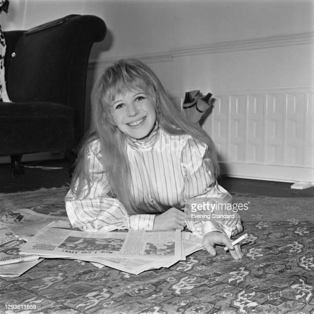 English singer and actress Marianne Faithfull, UK, April 1967.