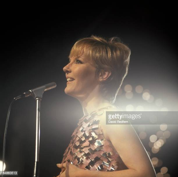 English singer and actress Petula Clark performs live on a television show in London circa 1967.