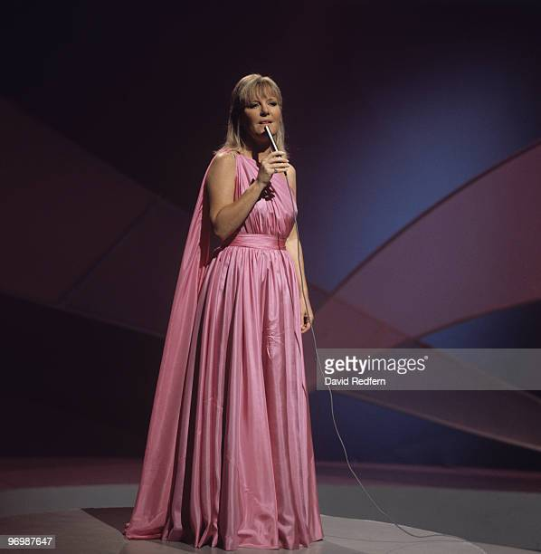 British singer Petula Clark performs on a television show in 1972