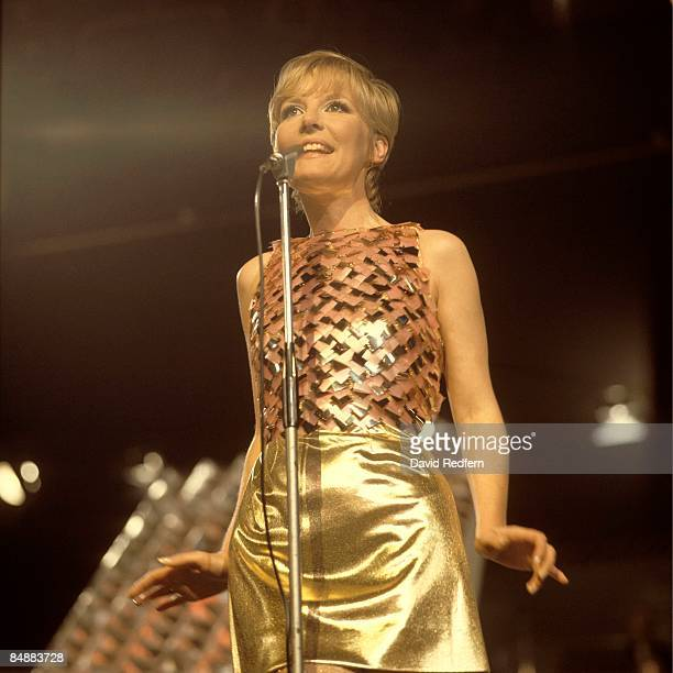 English singer and actress Petula Clark performs on a television show in London circa 1967.