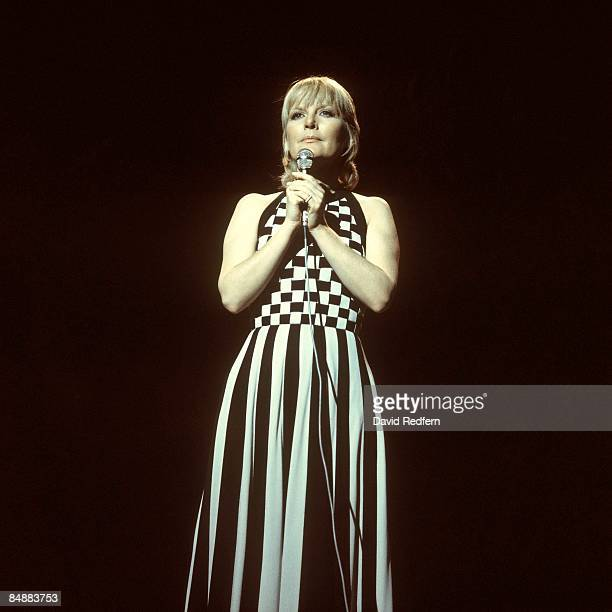English singer and actress Petula Clark performs on a television show in London in March 1973.