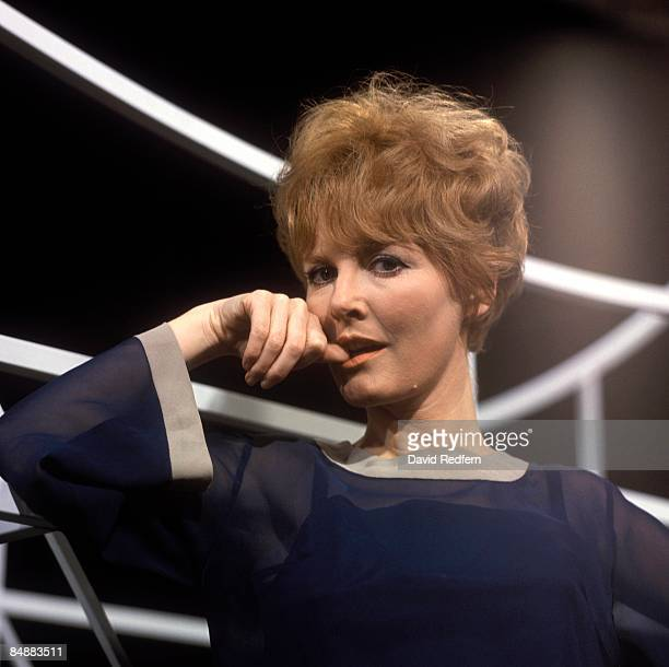 English singer and actress Petula Clark posed on a television show in London circa 1965.