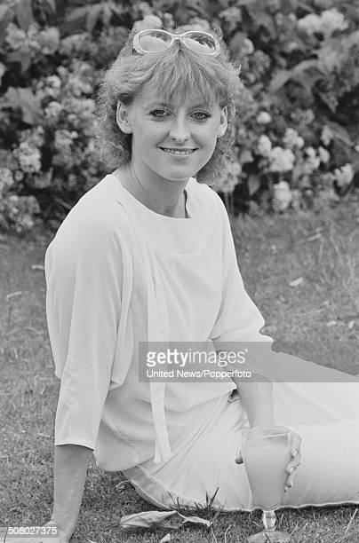 English singer and actress Rebecca Storm posed at Elstree Studios in Hertfordshire England on 8th July 1983