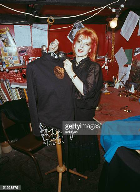 English singer and actress Toyah Willcox in a fashion and jewellery workshop 29th April 1979