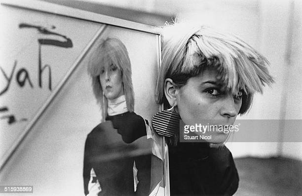 English singer and actress Toyah Willcox posing with some of her publicity material 11th July 1980