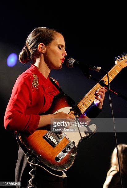 English singer and guitarist Anna Calvi performs live during a concert at the Astra on October 7 2011 in Berlin Germany