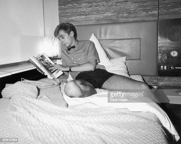 English singer and guitarist Nick Heyward of pop group Haircut 100 relaxes in a hotel room 10th June 1982