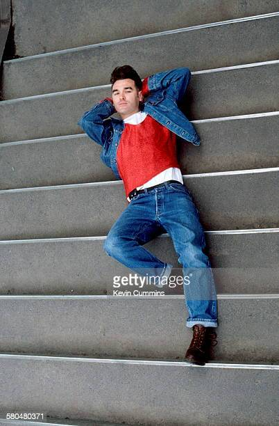 English singer and lyricist Morrissey in Cologne Germany during his 'Kill Uncle' tour May 1991