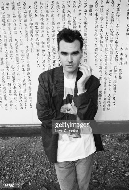 English singer and lyricist Morrissey in Japan during his 'Kill Uncle' tour 27th August 3rd September 1991
