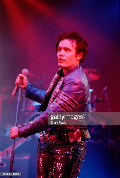 English singer and musician Adam Ant performs live on stage at Shepherd's Bush Empire in London on 22nd March 1995