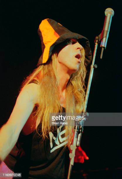 English singer and musician Julian Cope performs live on stage at Shepherd's Bush Empire in London during his Propheteering Tour on 5th October 1995
