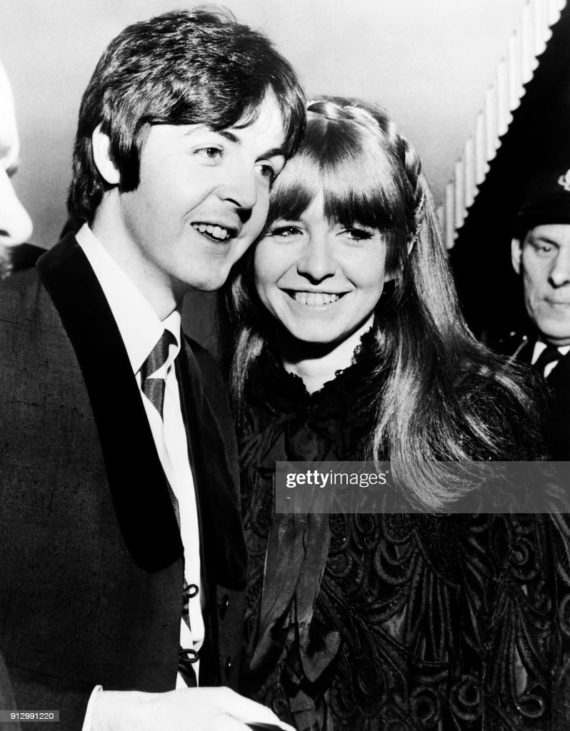 English Singer And Musician Paul McCartney Poses With His Girlfriend Actress Jane Asher In