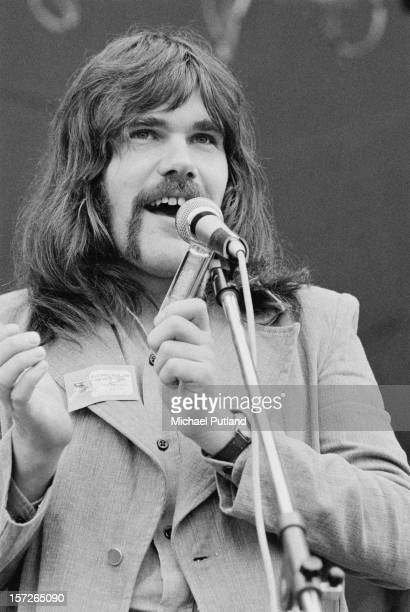 English singer and musician Ray Jackson performing with Lindisfarne at the Great Western Express Lincoln Festival, Bardney, Lincolnshire, 28th May...