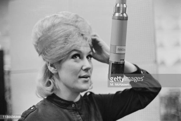 English singer and record producer Dusty Springfield recording her first solo single 'I Only Want to Be with You' at Olympic Studios London UK 22nd...