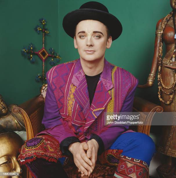 English singer and songwriter Boy George posed in 1993
