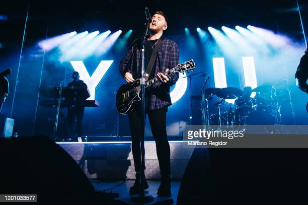English singer and songwriter James Arthur performs on stage at La Riviera on January 21 2020 in Madrid Spain