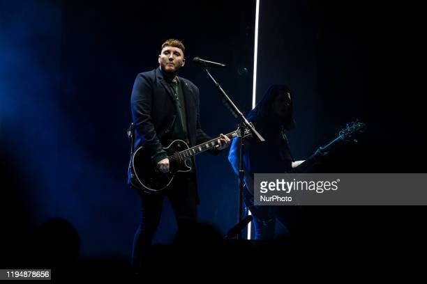 English singer and songwriter James Arthur performs on stage in Campo Pequeno on January 19 in Lisbon Portugal