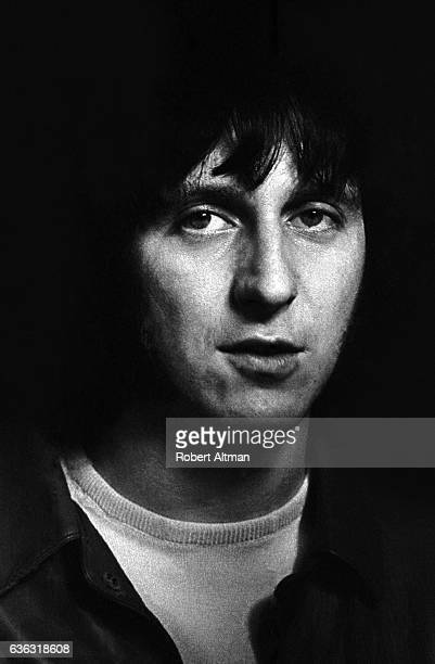 English singer and songwriter John Entwistle of The Who plays the bass guitar during the 'Tommy' premiere on June 19 1969 at the Fillmore West in San...
