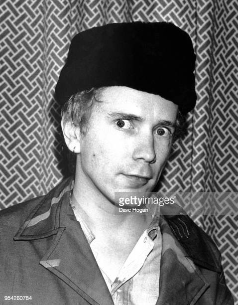 English singer and songwriter John Lydon of new wave band Public Image Ltd and formerly of the Sex Pistols circa 1983